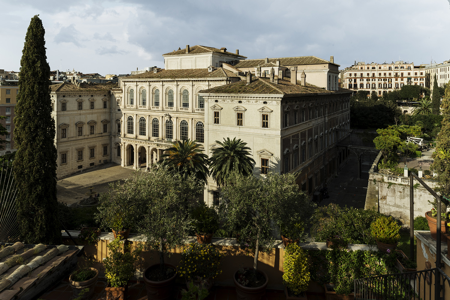 Museo Barberini from a Terrace, Rome.